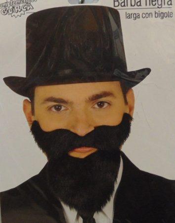 fekete szakáll+bajusz (11962)