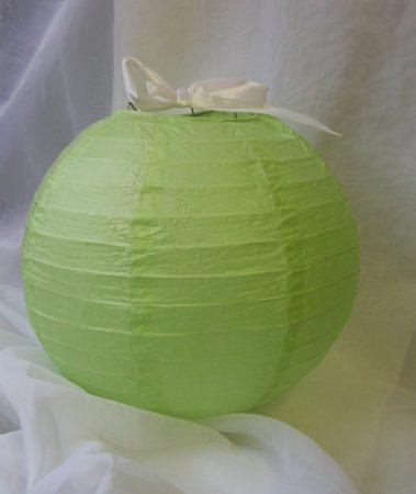 élénkzöld papír lampion gömb 40 cm-es (12520)