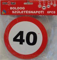 40. évszámos függődísz (6 db-s)-602210