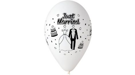 Just Married gumi lufi, 30 cm-s (10 db)