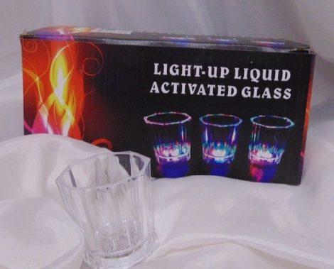 világító pohár röviditalhoz 1db