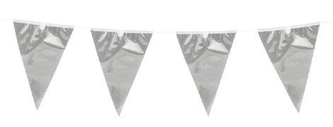 zászlógirland ezüst (10 m)