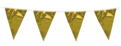 zászlógirland arany (10 m)