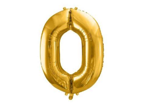 óriás szám fólia léggömb, arany