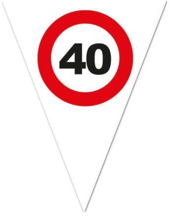 zászlógirland 40. közlekedési táblás ( 5 m )