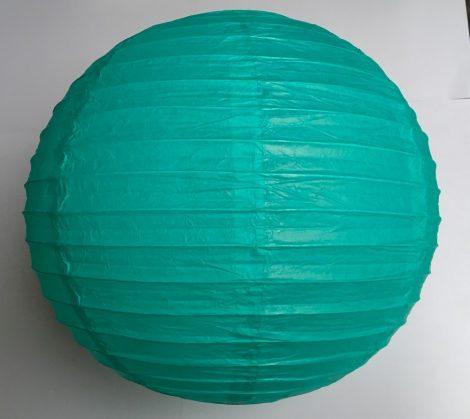 sötétmentazöld papir lampion gömb, 40-cm-es