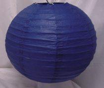 sötétkék papír lampion gömb 30 cm-es