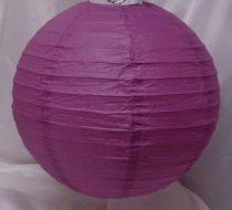 lila papír lampion gömb 30 cm-es