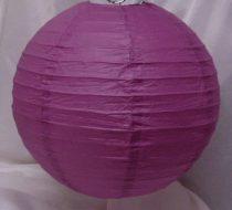 püspöklila papír lampion gömb 30 cm-es