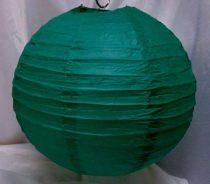 sötétzöld papír lampion gömb 30 cm-es