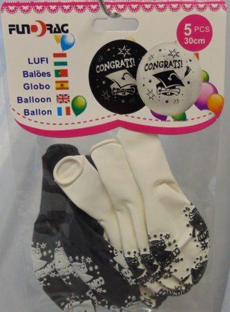 ballagási gumi lufi, smiley ( 5 db)-602225