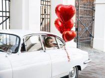óriás szív lufi, piros(61 cm)