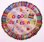 Boldog születésnapot ! fólia lufi hologramos (45 cm)