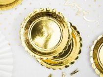 arany papírtányér (18 cm)-6 db
