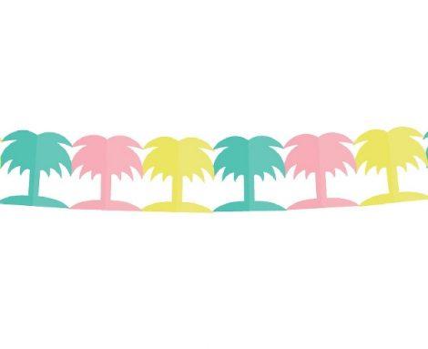 papír girland pasztell színes pálmafa (18X18X360 cm)-PF-GPKPA
