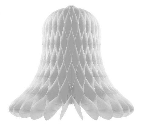 fényes ezüst papír harang (20 cm)