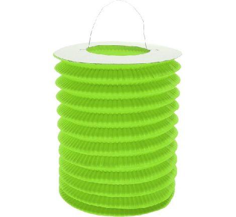 papír henger lampion zöld (15 cm)-ldwpi