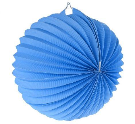 papír gömb lampion 25 cm, kék-ldkni25