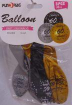 Boldog 60. születésnapot arany, ezüst, fekete (30 cm-s)-5 db-607123