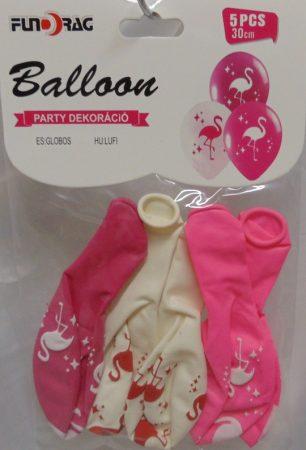 flamingós gumi lufi (30 cm-s)-5 db-606782