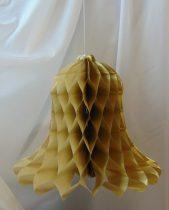 fényes arany papír harang (20 cm)