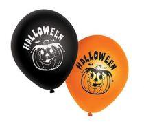 Halloween lufi fekete-narancs (20 db)