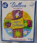 Happy Birthday fólia lufi (45 cm)-114357