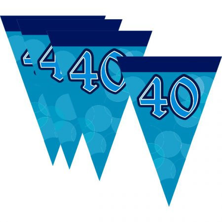 Évszámos zászlófüzér 40. (2,5 m)