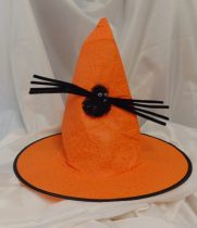 Boszi kalap pókkal, narancs