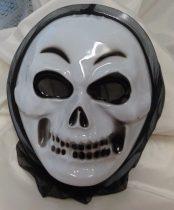 Halloween koponya álarc, műanyag