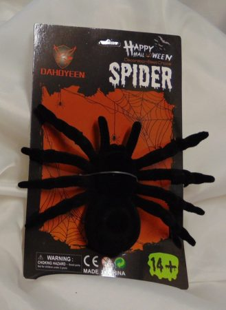 műanyag pók plüssözött (11x16 cm)