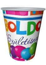 boldog születésnapot pohár 2 dl (8 db)-53696