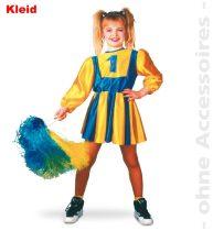 Pom-pom lány jelmez, kék-sárga