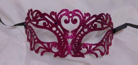 áttört mintás, glitteres álarc, pink (pg-gsz)