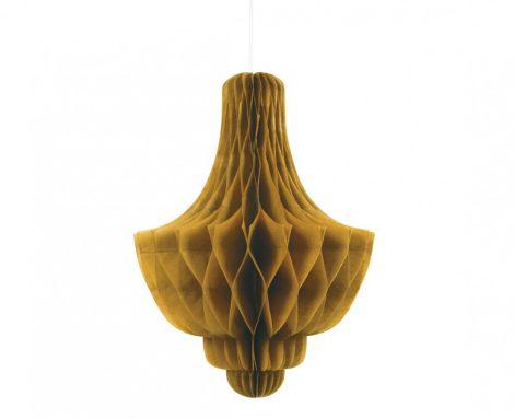 csillár lampion, arany, 35 cm