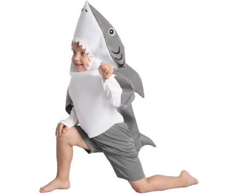 cápa jelmez, 92-104 méret