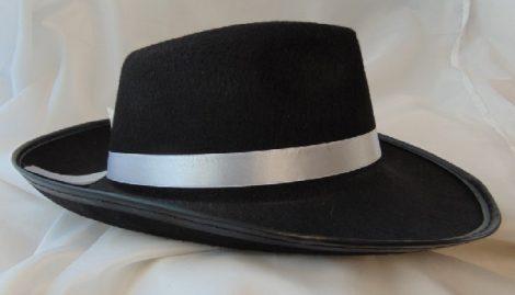 gengszter kalap fehér szalaggal (54-72)
