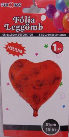 fólia lufi rózsás szív-51 cm-s (219195)