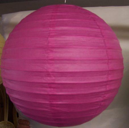 mályva papír lampion 30 cm-es
