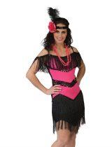 Charleston női jelmez , pink (36-38 méret)