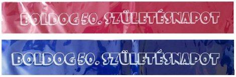 Boldog 50. születésnapot ! vállszalag ( kék színben)