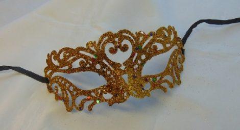 áttört mintás, glitteres álarc, arany (pg-gsz)-18324