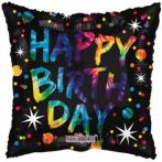 Happy Birthday fólia lufi szögletes (45 cm)-.16147