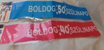 Boldog 40. születésnapot vállszalag (rózsaszín vagy kék)