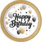 Happy Birthday tányér 23 cm (8 db)