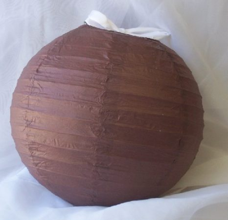 barna papír lampion gömb 25 cm-es
