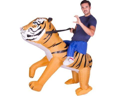 Vicces, felfújható tigrises jelmez