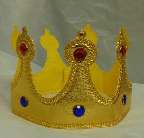 korona tépőzáras, arany