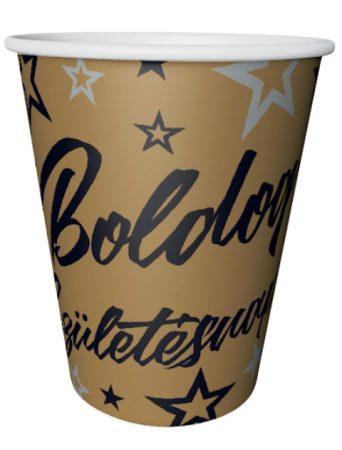 Boldog születésnapot ! pohár arany - fekete