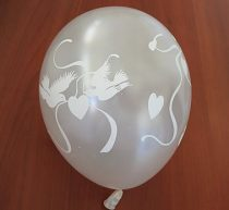 Lufi galamb mintával, fehér (5 db)